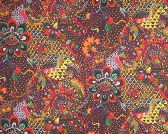 Stunning Rich Jacobean Grand Bazaar Liberty of London Print Pure Cotton Lawn Fabric--By the Yard