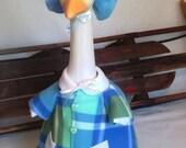 Fleece Winter Coat for your lawn goose ~ 2 piece fleece coat ~ plastic or cement lawn goose clothing