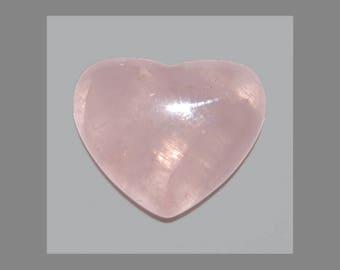 ROSE QUARTZ Heart (33674) * * * Medium Pink 18 x 15mm Heart Flat Bottom - Cab / Cabochon