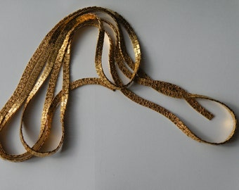 Gold plated flat textured chain 65 7/8""