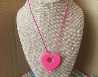 Little heart coloring crayons necklace