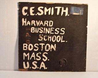 Antique Harvard Business School / Antique Tea Crate top
