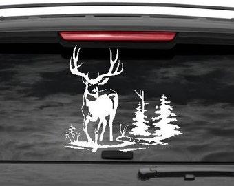 Deer hunting decal, deer hunter, hunting gift, hunting gifts, hunting decals, bow hunting decal, bow hunter, truck decal, bow hunter gift