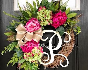 NEW! Spring Wreath for Front Door, Spring Wreaths for Front Door, Spring Door Wreath, Grapevine Door Wreath, Summer Wreaths