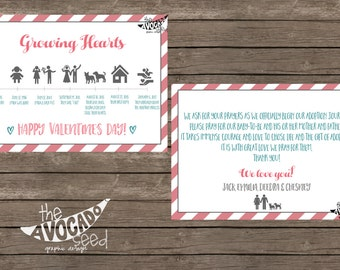 Adoption Journey Timeline Annoucement Valentines Day (optional) - DIY Printing or Professional Prints
