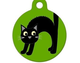 Pet ID Tag - Scaredy Cat Pet Tag, Cat Tag, Luggage Tag, Child ID Tag
