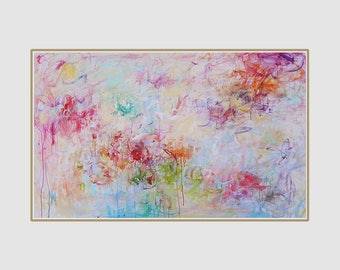 large wall art abstract painting, large canvas abstract,large  abstract,Contemporary art,multi color, colorful painting,painting on canvas