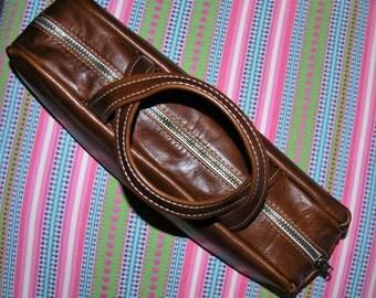 Pencil Case, Large Leather Artist's Bag, Illustrator's Bag, Marker Case, Artist Case, Artist Brush Case, Large Pencil Case, Cosmetic Case
