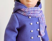 Violet Coat and Scarf for Sasha Doll