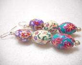 Easter Earrings, Easter Jewelry, Easter Egg Earrings, Easter Egg Jewelry, Spring Earrings, Spring Jewelry, Easter Bunny Gift, Handmade, OOAK