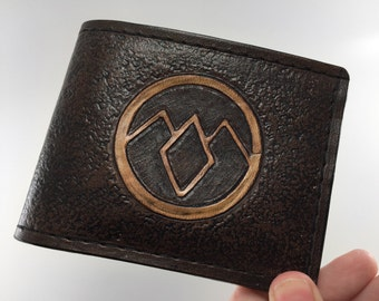 Twin Peaks Inspired Hand Tooled Leather Wallet