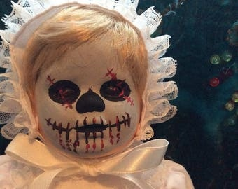 Hand Painted Day of the Dead Doll