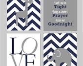 "Read Me A Story Tuck Me In Tight, Navy and Grey Nursery, Elephant Nursery, Read Sign, Elephant Wall Nursery Art Set of four 8""x10"" prints"