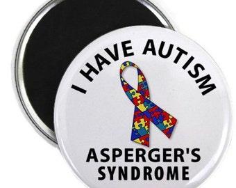 AUTISM Asperger's Syndrome Medical Alert Fridge Magnet (Choose Size)