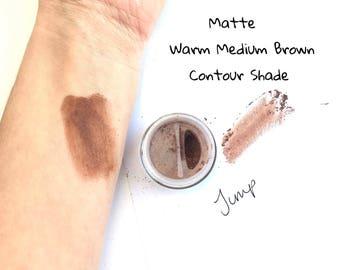Jump Brown Eye Shadow - Mineral Eye Shadow Natural Matte Eye Makeup - Warm matte brown eye color
