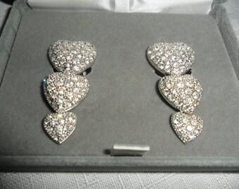Vintage Nolan Miller Heart Earrings