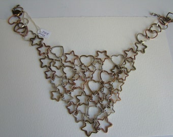 Loulou de la Falaise stars and hearts necklace