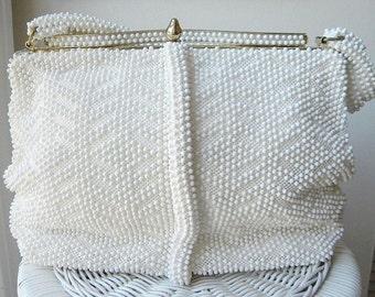 1950s Vintage Lumured Beaded Handbag