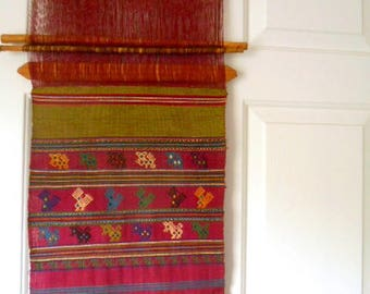 Vintage ethnic woven tapestry Wall Art