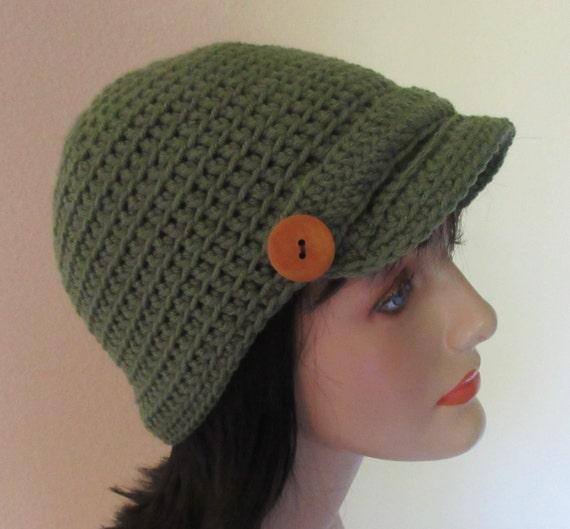 Women's Newsboy Hat Women's Crochet Hat Brimmed Beanie Hat Fall Accessories