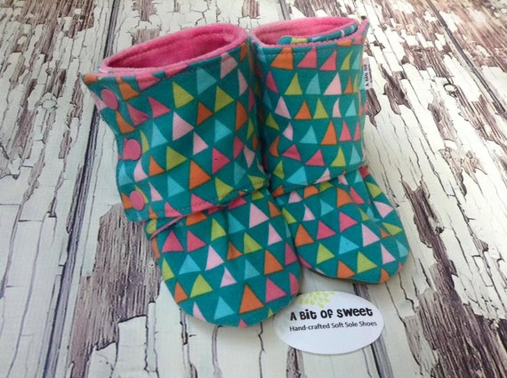 Triangles Soft Sole Boots size 18-24m