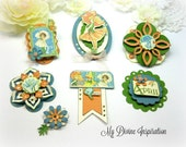 G45 Children's Hour April Handmade Paper Embellishments for Scrapbooking Layouts Cards Mini Albums Tags Paper Crafts