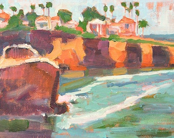 Ocean Beach San Diego Plein Air Landscape Painting