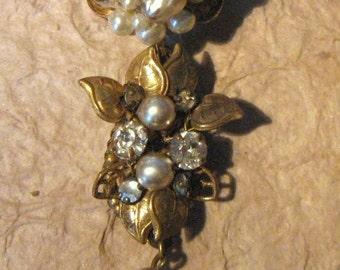 Vintage Three Piece Miriam Haskell Brooch or Composite Brooch