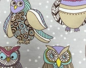 SALE - Winter Owls  - Flannel Fabric - BTY