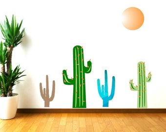 Cactus wall decals, Nursery Decor Cactus, Cactus Decor, Nursery Wall Decals, Playroom Decor, Kids Room Decor, Cactus plants, Desert Decor