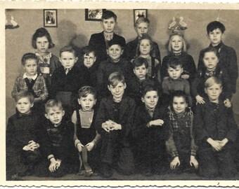Vintage RPPC Class photo