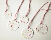 Painted Gift Tags - Tiny Flowers