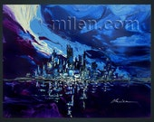 """New York Blue. 48"""" x 41""""  Reserved for Silvia"""