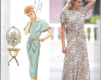 Simplicity 7813 Vintage Dress Slim Or Flared Skirt Sewing Pattern UNCUT Size 12, 14, 16