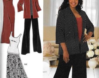 Simplicity 2948 Khaliah Ali Womens Dress Top Pants Skirt jacket Sewing Pattern UNCUT Plus Size 26W, 28W, 30W, 32W