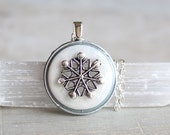 snowflake necklace, snowflake jewelry, winter jewelry, christmas necklace, unique gift, gift for her, winter wedding, womens gift, white