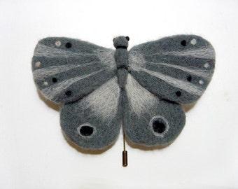 """Brooch """"Misty moth"""""""