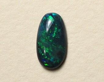 Australian Black Opal with Green Fire - Ring or PendantStone - 1.08 Carats