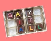 Personalized Chocolate Message Box Gift for Her Him BF Men Woman Kids Customized Gift 12 pc Jelly Bean Cube letters International Shipping