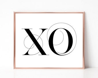 SALE -50% xo Digital Print Instant Art INSTANT DOWNLOAD Printable Wall Decor
