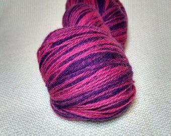 Kauni Wool Yarn 8/2 Color eb, Self-Striping, Purple and Pink (Fuchsia)