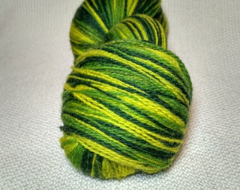 Kauni Wool Yarn Color EK, Self Striping, Green Yellow Gradient