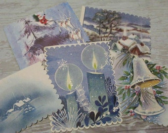 Lg Charming VINTAGE 1940s-60s Christmas Gift Tags Set of 5 Handmade By  VINTAGE Repurposer ahead of her time, Meticulous & Sweet, See IDEAS!