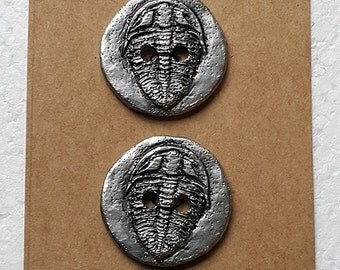 Pewter Trilobite Sewing Buttons (Pair)