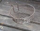 Vintage French wire bird feeder