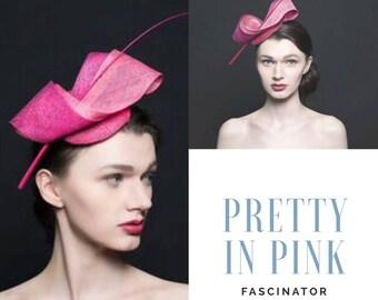 Pretty in pink fascinator