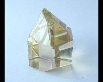 Yellow Quartz Faceted Cabochon,33x27x21mm,28.8g(c0370)