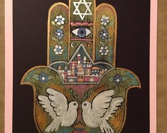 Hamsa Doves of Peace 3