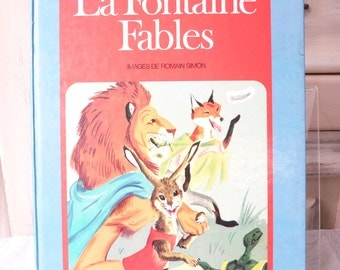 La Fontaine Fables Vintage Children's Book - Hachette - Illustrations By Romain Simon - Collectibles  - Moral Stories