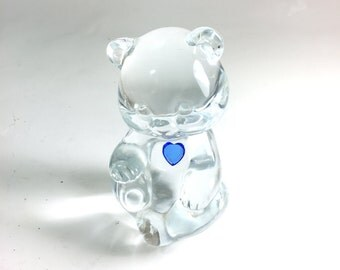 Vintage Glass Teddy Bear by Fenton Glass